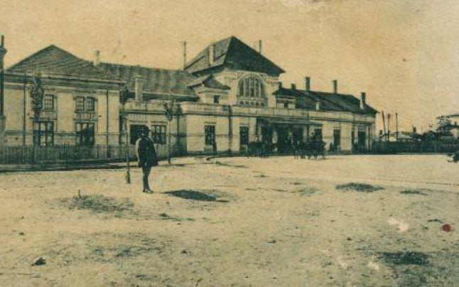 Gara Buzău, în care se afla restaurantul concesionat de marele dramaturg